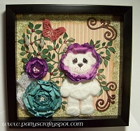 Tear Bear with Flowers Wall Hanging