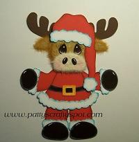 Standing Christmas Moose