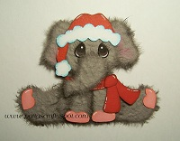 Sitting Christmas Elephant