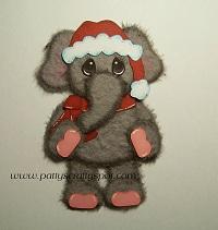Standing Christmas Elephant