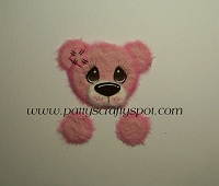 Pink Tattered Teddy Peeker