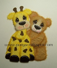 Gina Giraffe with Tear Bear