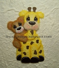 Gina Giraffe with Baby Tear Bear