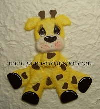 Giraffe Sitting Tear Bear