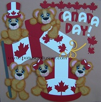 Cutie Tear Bears Canada Day Full Set