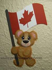 Cutie Tear Bear with Canada Flag