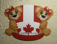 Cutie Tear Bears on Canada Day Hat