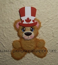Cutie Tear Bear with Canada Day Hat