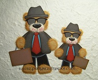 Tear Bears Father & Son Ready for Work