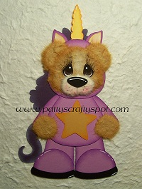 Tear Bear in Unicorn Costume
