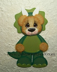Tear Bear in Dinosaur Costume