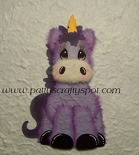 Purple Unicorn Tear Bear