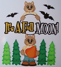 Its a Full Moon Wolfs Paper Piecing
