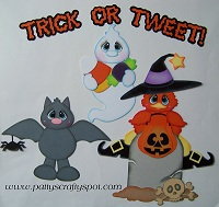 Trick or Tweet Halloween Paper Piecing
