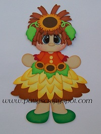 Fall Rag Doll Paper Piecing