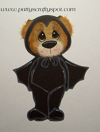 Tear Bear in Bat Costume