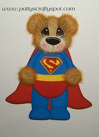 Super Man Tear Bear