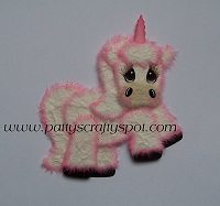 White/Pink Unicorn Tear Bear