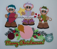 Merry Christmouse Mice Paper Piecing