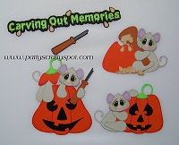 Halloween Pumpkin Carving Mice