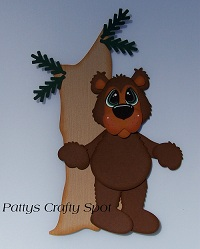 Rustic Bear with Tall Tree