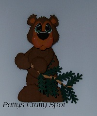 Rustic Bear with Branch