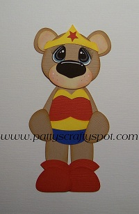 Wonder Woman Paper Piecing Bear