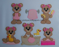 Bathtime Bears Girls