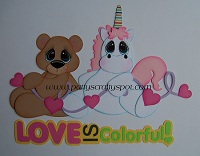Love is Colorful Bear and Unicorn