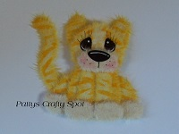 Yellow Cat with Yellow Stripes Tear Bear Sitting