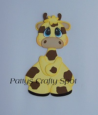 Tiny Treasures Giraffe Yellow