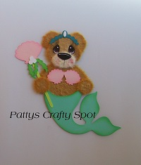 Mermaid Tear Bear with Sea Shells
