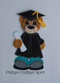 Graduation Tear Bear Black