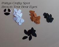 Die Cut Eyes Brown for Tear Bears