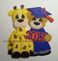 Graduation Tear Bear with Giraffe