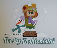 Frosty Fashionista with Brown Hair