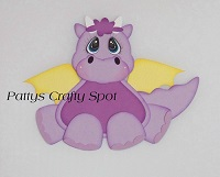 Tiny Treasures Purple Dragon