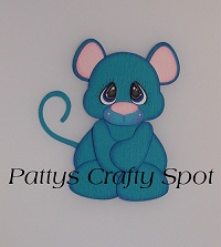 Tiny Treasures Blue Mouse