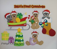 Babys First Christmas - Bears and Mice