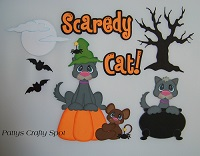 Halloween Scaredy Cat Paper Piecing