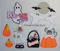 Halloween Boo ti ful you Paper Piecing
