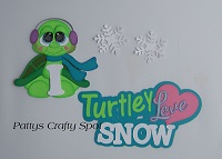 I Turtley Love Snow Turtle Paper Piecing