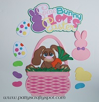Some Bunny Loves Easter Pink Basket