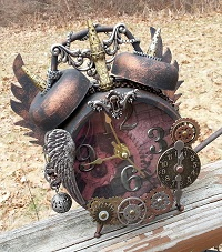 Key Hole Steampunk Clock by Pattys Crafty Spot
