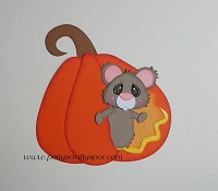 Mouse Peeking out of Pumpkin
