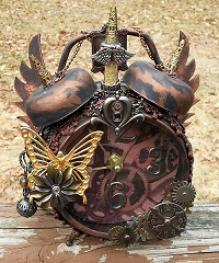 Golden Goddess Steampunk Clock by Pattys Crafty Spot