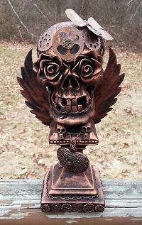 Steampunk Rose Skull by Pattys Crafty Spot