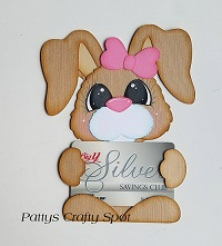 Bunny Gift Card Holder Paper Piecing