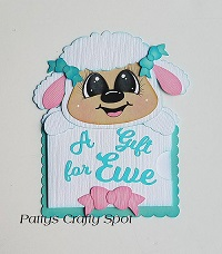 A Gift for Ewe Lamb Gift Card Holder Paper Piecing