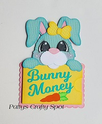 Bunny Money Gift Card Holder Paper Piecing
